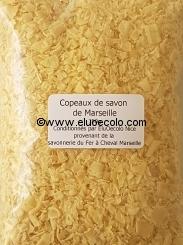 Copeaux de savon de Marseille Fer à Cheval reconditionnés (Seau 2,30kg)