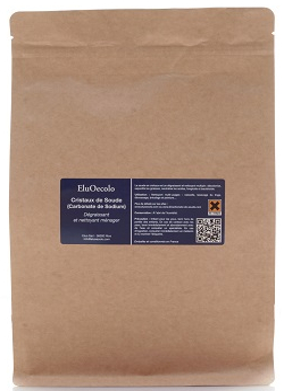 Cristaux de soude 3kg avec doseur offert - Doypack Kraft hermétique refermable