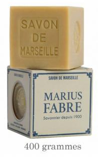 Savon de Marseille cube végétal sans huile de Palme (400g avec étui OU 200g sans étui)